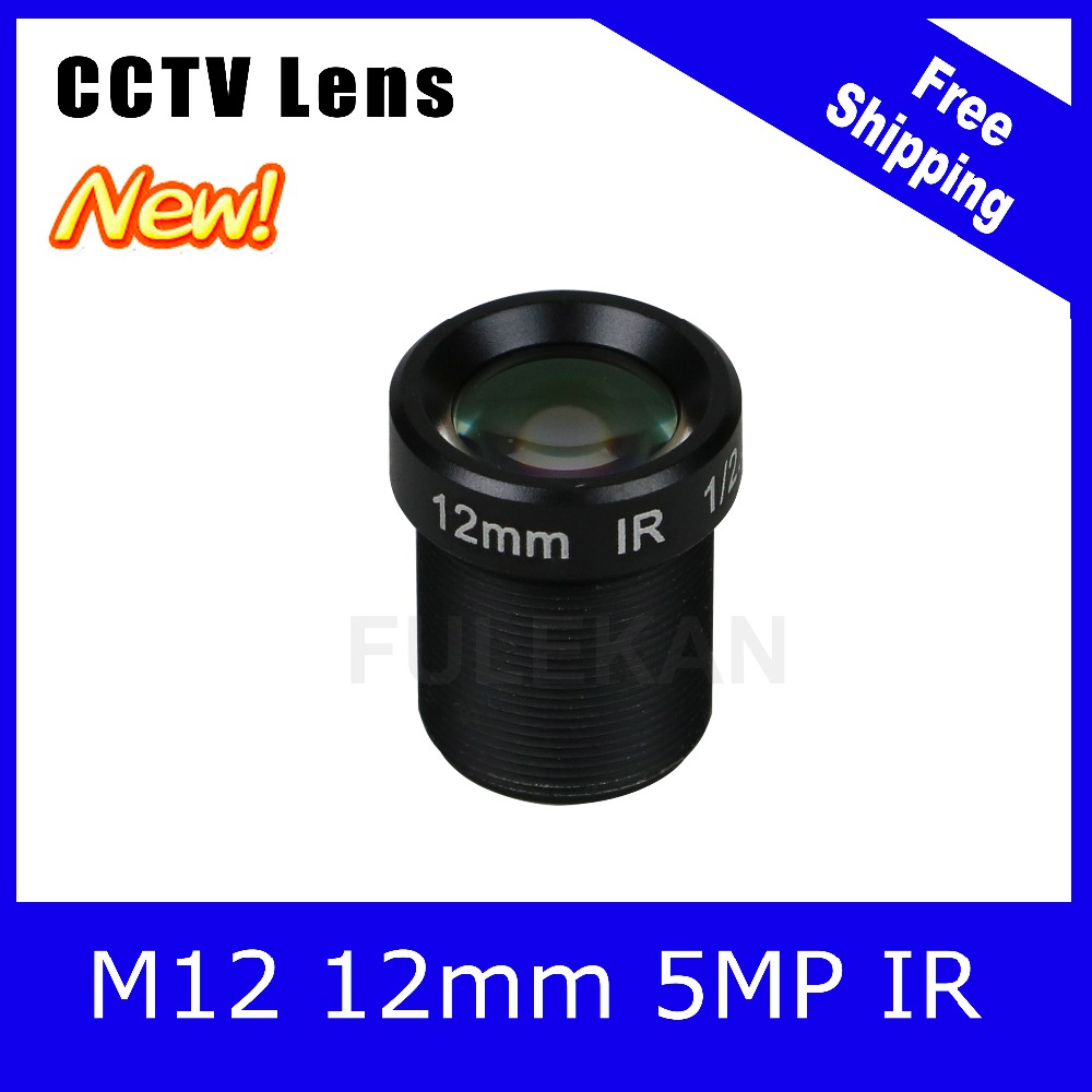 5Megapixel Fixed M12 1/2.5 inch CCTV Camera Lens 12mm For 1080P/4MP/5MP IP camera and AHD/CVI/TVI Camera Free Shipping 3megapixel fixed m12 cctv lens 1 2 5 inch 3 6mm for ov2710 ar0230 720p 1080p ip camera or ahd cvi tvi cctv camera free shipping
