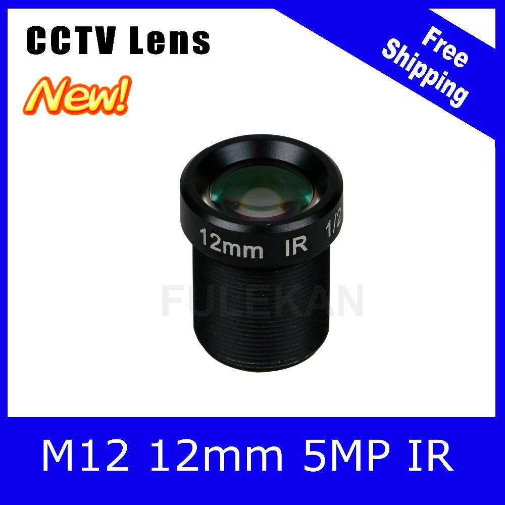 5Megapixel Fixed M12 1/2.5 inch CCTV Camera Lens 12mm For 1080P/4MP/5MP IP camera and AHD/CVI/TVI Camera Free Shipping starlight lens 3mp 4mm fixed aperture f1 5 for sony imx290 imx291 ip camera free shipping