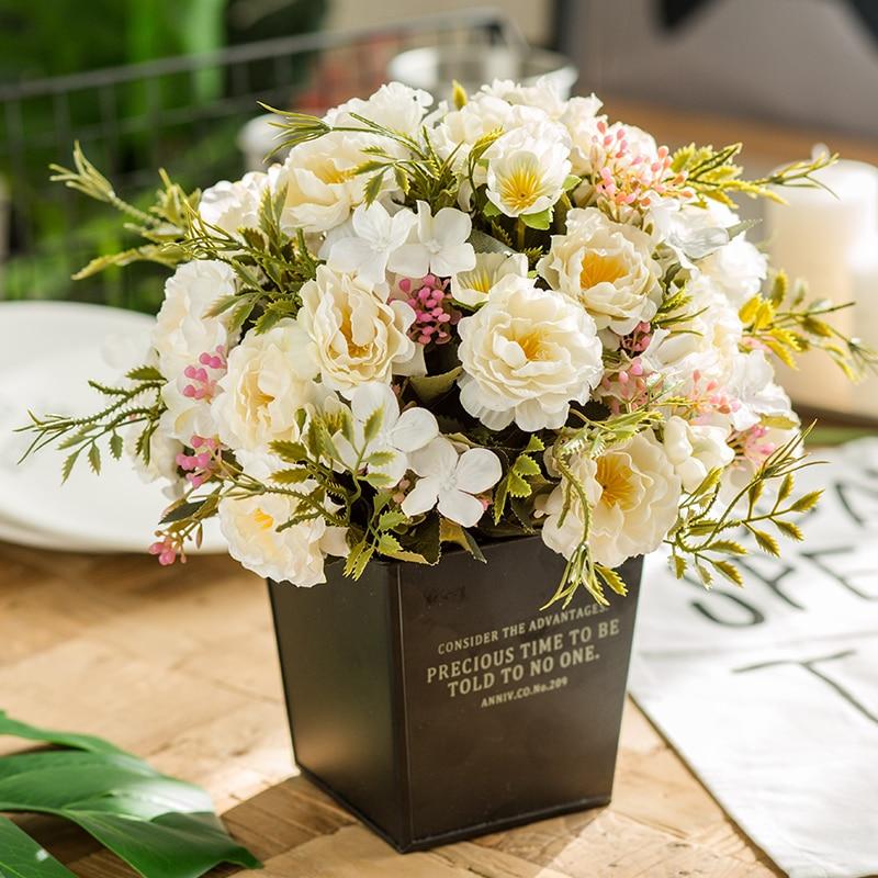 Искусственные пионы из Китая, 3 шт., высокое качество, шелковая Цветочная головка, пластиковая ветка, цветок для свадьбы, оптовая продажа, G2740