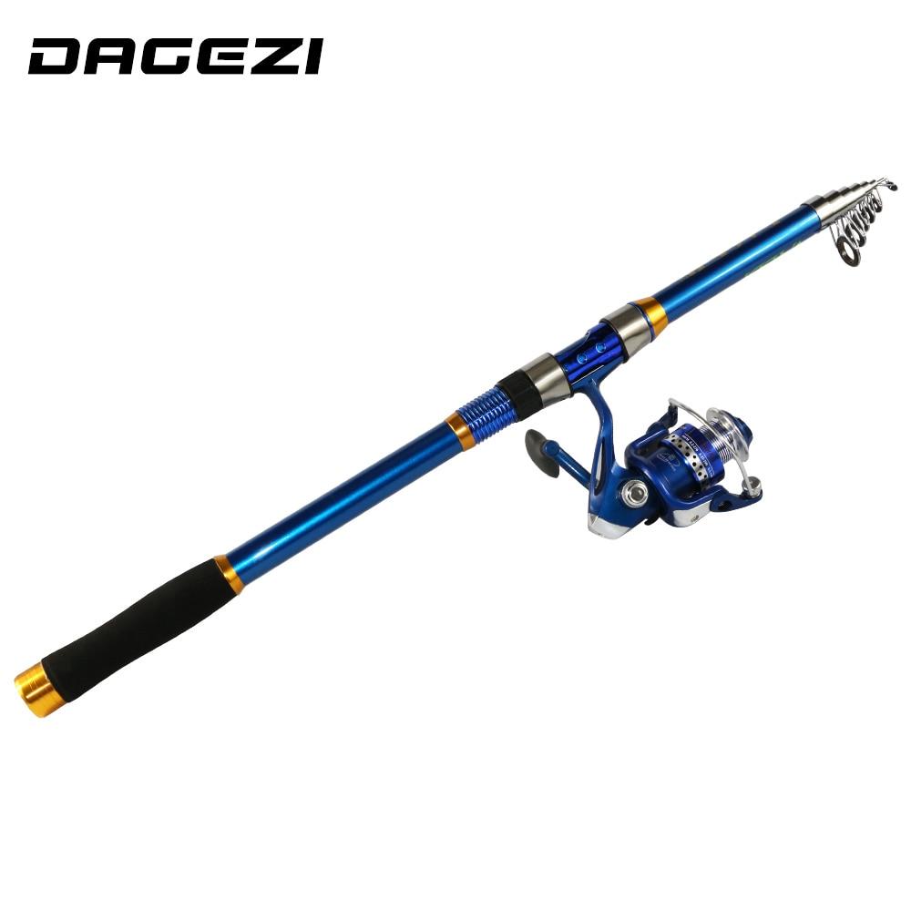 Dagezi carbon fiber telescopic sea fishing rod for Sea fishing rods