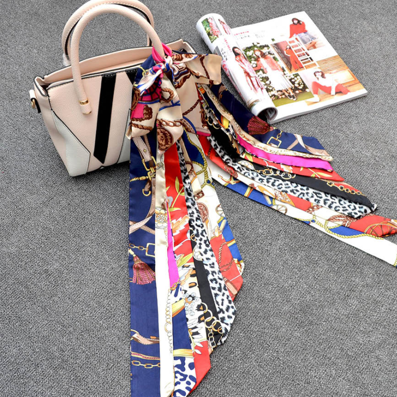 LNRRABC Salable Scarves Tied The Bag Handle Decoration Print Ribbon Scarf Handle Scarf Scarves Headwear Women Accessories in Women 39 s Scarves from Apparel Accessories