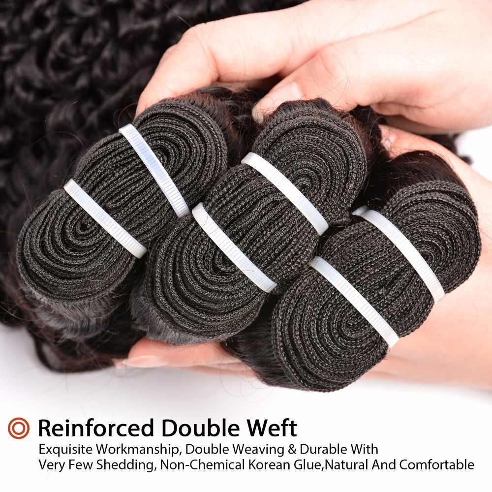 Бразильские кудри пучки человеческие волосы Weave Связки натуральный черный Цвет GEM красота не волосы remy Расширения Бесплатная доставка