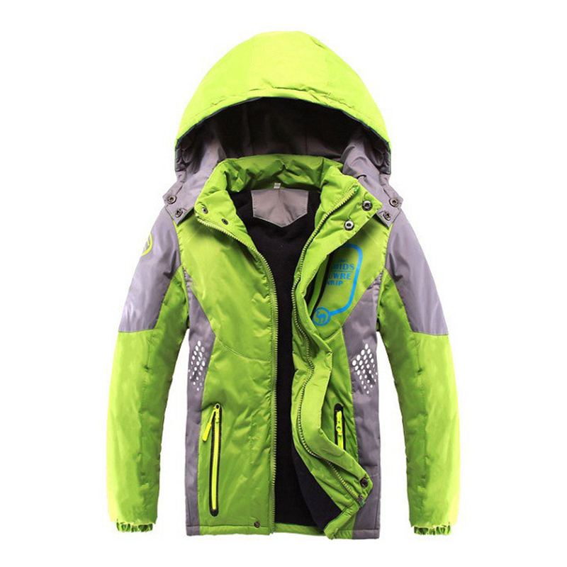 Children Outerwear Warm Coat Sporty Kids Clothes Double-deck Waterproof Windproof Thicken Boys Girls Jackets Autumn and Winter children autumn and winter warm clothes boys and girls thick cashmere sweaters