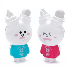 NEW Cute Cartoon Rabbit Correction Tape Fix with Eraser Office School Animal Family Kids Gift