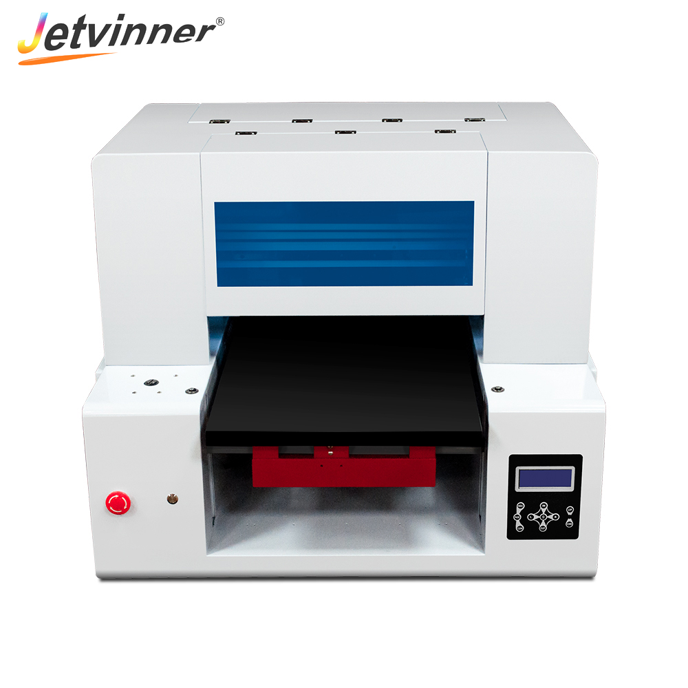 Jetvinner DTG Flatbed Pritner Fast Speed Printers with Double Print Head for Textile for Dark Color Light Color Clothing