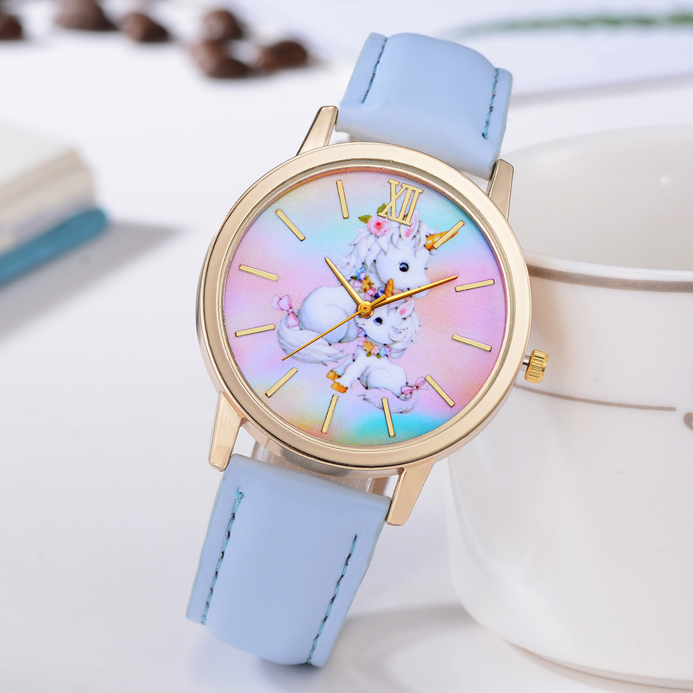 Casual Fashion Watch Cute Animal Kids Girls Students Lovely