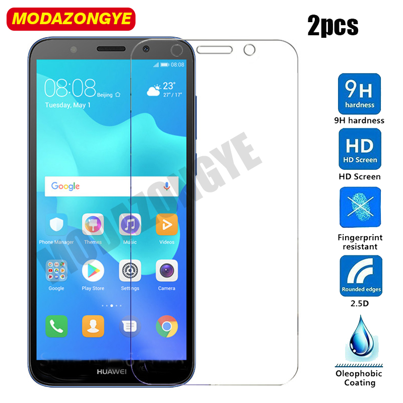 2 Pcs Tempered Glass Huawei Y5 Lite 2018 Screen Protector Huawei Y5 Lite 2018 DRA-LX5 Glass Huawei Y5Lite 2018 Protective Film