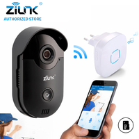 ZILNK 720 P Video Citofono WiFi Campanello Della Macchina Fotografica del CCTV di Sorveglianza Nightvision Video Citofono Interno Campanello Built-In SD Card Nero