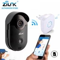 ZILNK 720P Video Intercom WiFi Doorbell Camera CCTV Surveillance Nightvision Video Doorphone Indoor Chime Built In
