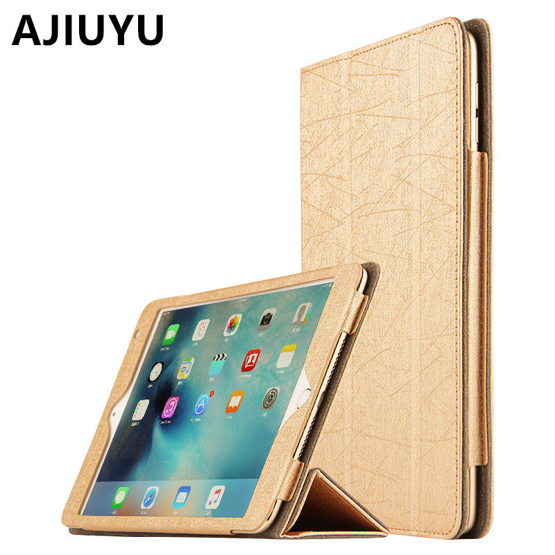 AJIUYU Case For iPad Air 2 Smart cover 9.7 inch  Protective Protector Leather TPU Tablet For Apple iPadAir2 Sleeve Cases Covers ctrinews for ipad air 1 case clear transparent soft tpu silicone back case for apple ipad 5 air 1 tablet pc protective cover