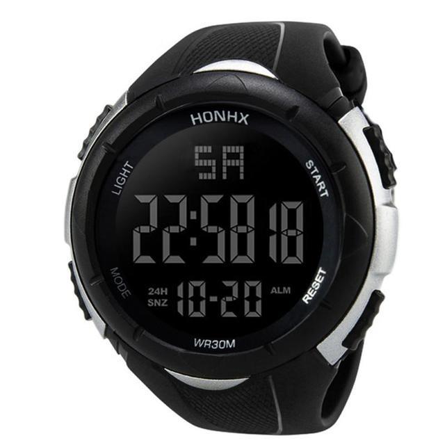 2018 Men LED Digital Military Watch, 30M Dive Swim Dress Sports Watches Fashion Outdoor Wristwatches #D