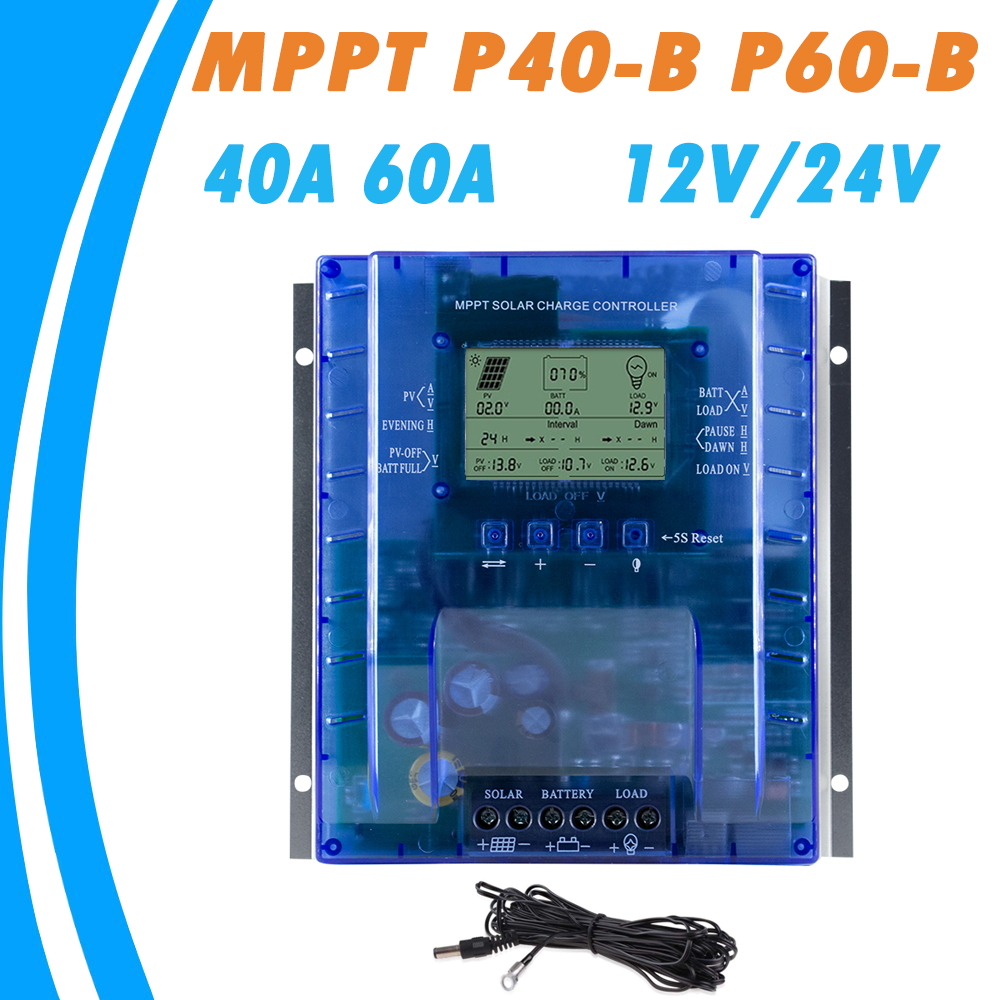 PowMr 40A 60A MPPT Контроллер заряда 12 В 24 в авто для Max 100 в