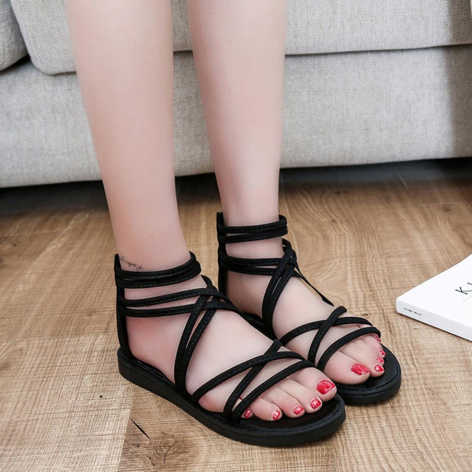 women Sandals Women Flat Shoes Bandage Bohemia Leisure Lady Casual Sandals Peep-Toe Outdoor Chaussures Femme 2018 hot sale 14