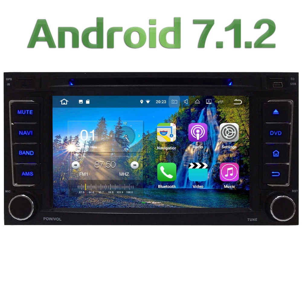2GB RAM 7'' Quad Core Android 7.1 Multimedia 4G DAB+ SWC BT Car DVD Player Audio Stereo Radio GPS Navi for VW Touareg 2002-2011 ship from de four digit display professional 0 30v 0 5a dc power supply device for workshops laboratory etm 305f eu plug
