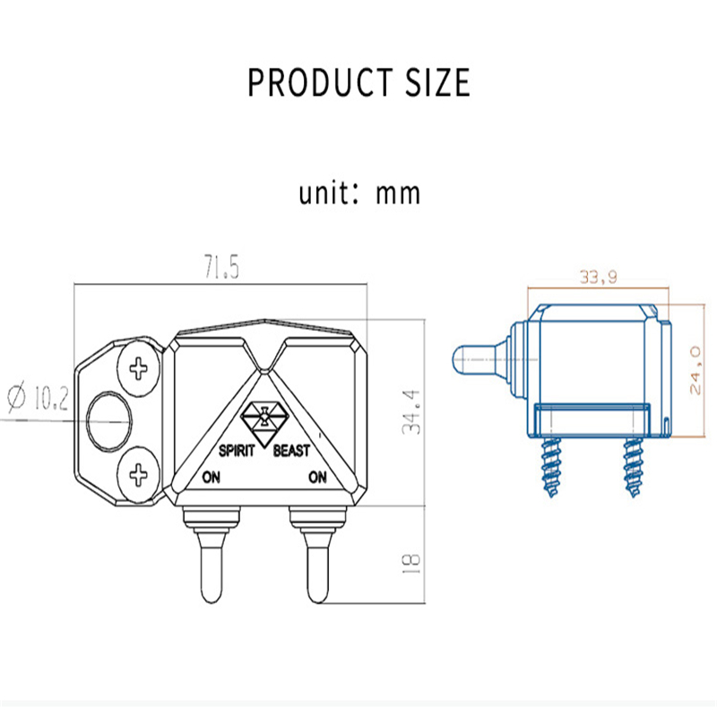 Image 5 - SPIRIT BEAST Motorcycle Scooter Switch Control Box Handlebar Headlight CNC Aluminium Alloy Hazard Light Waterproof Switch Box-in Motorcycle Switches from Automobiles & Motorcycles