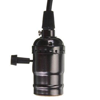 Люстра E27 ретро Эдисон лампа розетка с выключателем и Провода 110-220 В черный