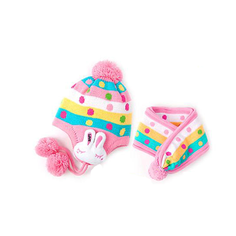 Children's Winter Hats 2017 Hot Sale Warm Winter Cap Scarf For Cute Boys Girls Baby Kid Toddler + Wool Hat Set Wholesale Price