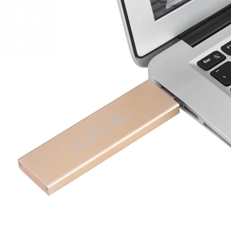 USB3.0 к M.2 NGFF SSD жесткий диск корпус 120 г (золото) ...