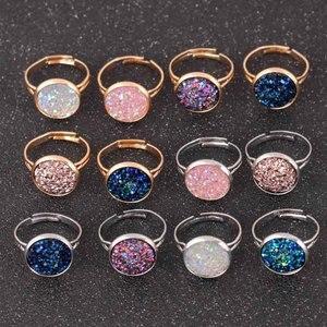 2018 новые модные регулируемые кольца для женщин, Кристальное Открытое кольцо, массивные ювелирные изделия для помолвки, женские кольца золо...