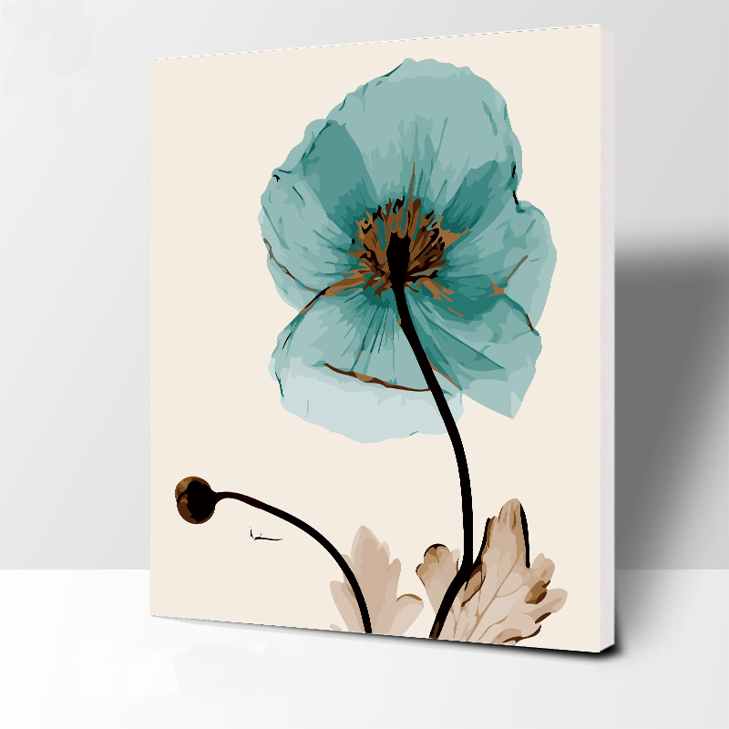 The FLOWER Painting By Numbers Modern Wall Art Handpainted Digital Oil Painting On Canvas For Home Decoration