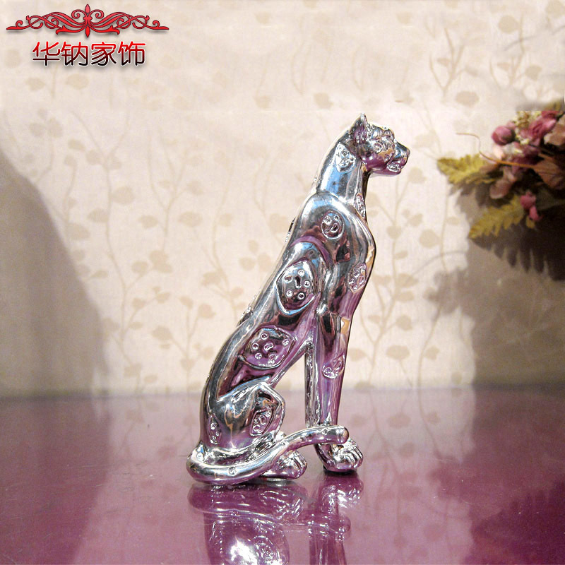 Rushed Home Decoration Accessories Leopard Soft Model Room Crafts Furnishing Jewelry Factory Direct Panthera pardus