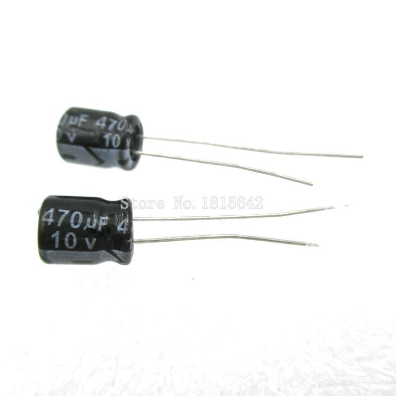 20PCS/LOT 470uF 10V Aluminum Electrolytic Capacitor 470uf 10v 6.3*7 Electrolytic Capacitor