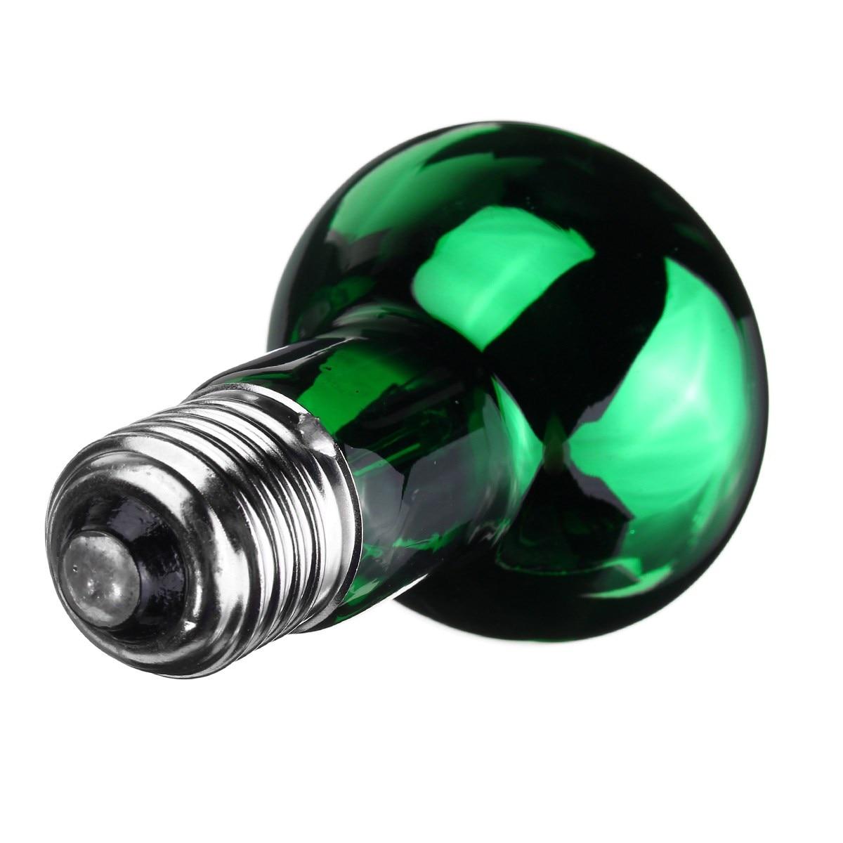 Hot R63 Pet Heating Light Bulb 25W/40W/50W/60W/75W/100W E27 Night Green Heat Light Lamp Bulb For Reptile Pet Brooder AC220V-240V
