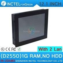 Дешевые все в одном pc desktop pc компьютер панели 2 мм с 12 дюймов 2 1000 М Никс 2COM 1 Г RAM ТОЛЬКО Окна и Linux