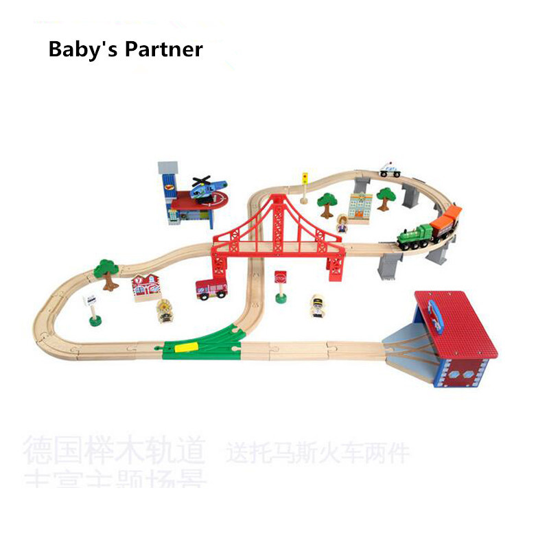 купить Diecasts Toy Vehicles Kids Toys Thomas train Toy Model Cars wooden puzzle Building slot track Rail transit Parking toys car 2018 по цене 5101.23 рублей