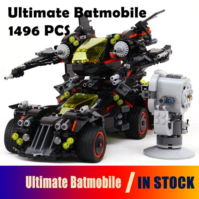 Model building blocks Compatible with Lego batman 70917  07077 super heroes Ultimate Batmobile Figure bricks toys for children 785pcs knight stone colossus of ultimate destruction model building blocks 14036 assemble bricks toys nexus compatible with lego