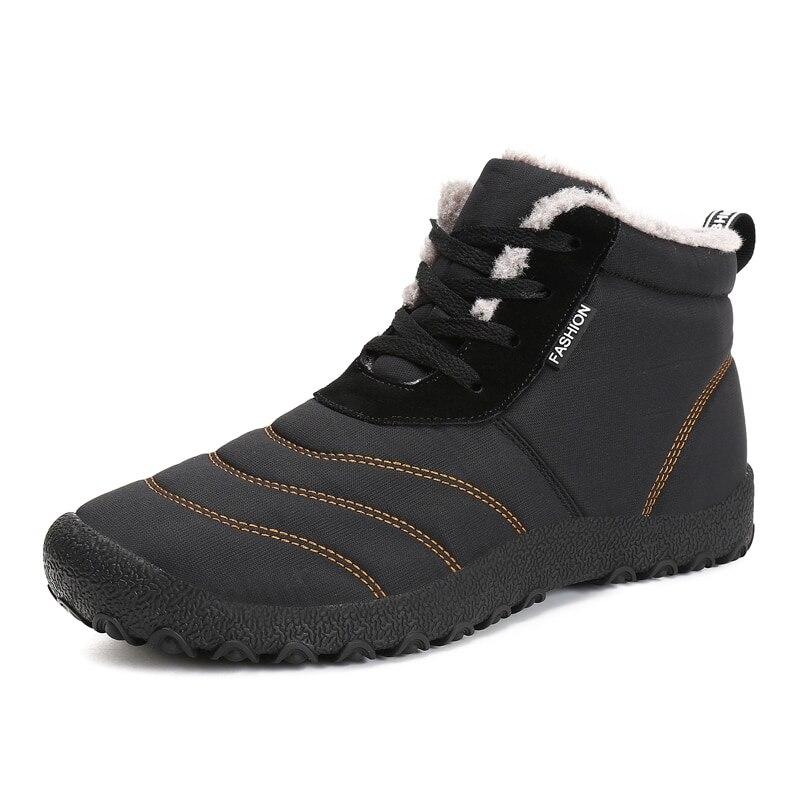 Christmas Winter Men Shoes Warm Plush Snow Boots Men Waterproof Rain Boots Anti-slip Ankle Botas Plus Size zapatos de hombre girl shoes in sri lanka