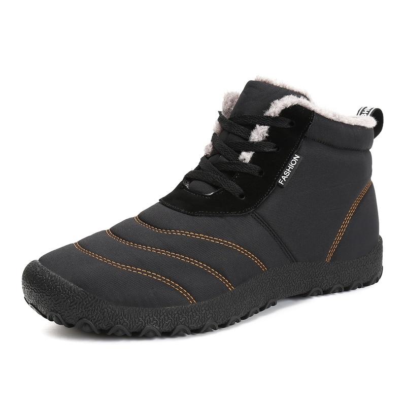 Christmas Winter Men Shoes Warm Plush Snow Boots Men Waterproof Rain Boots Anti-slip Ankle Botas Plus Size zapatos de hombre