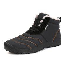 Christmas Winter Men Shoes Warm Plush Snow Boots Waterproof Rain Anti-slip Ankle Botas Plus Size zapatos de hombre