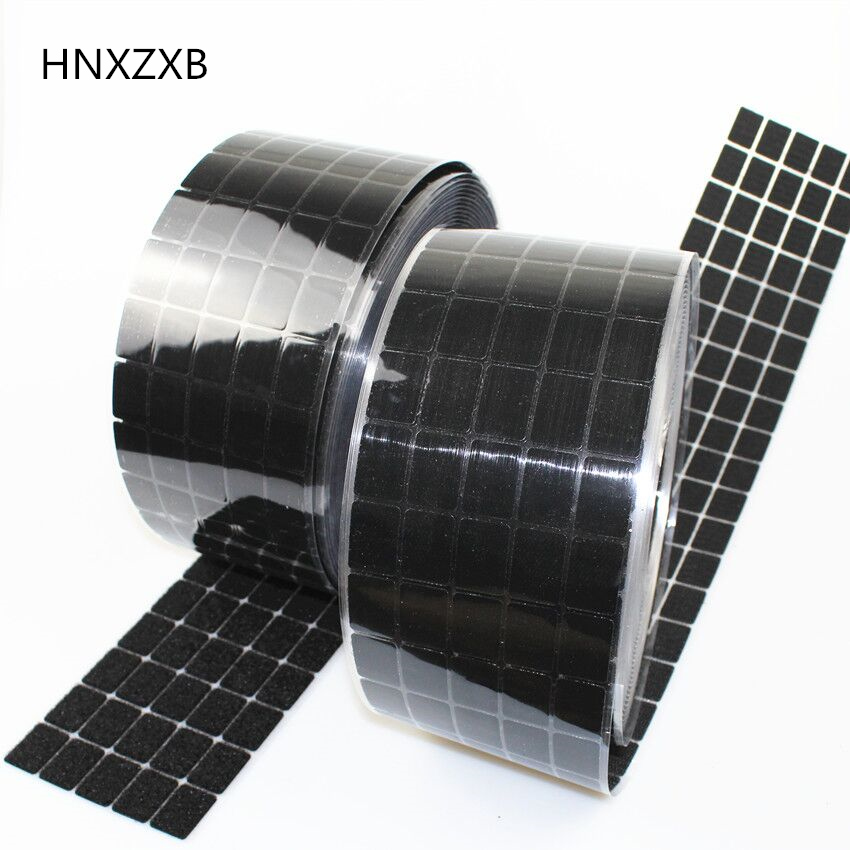 HNXZXB 20*30mm 50 Pairs Magic Nylon square Sticker Double Sided Adhesive Hooks Loops Disks Pads Dot Fastener Tape Sewing Craft 100 pairs eyelash extension sticker pads