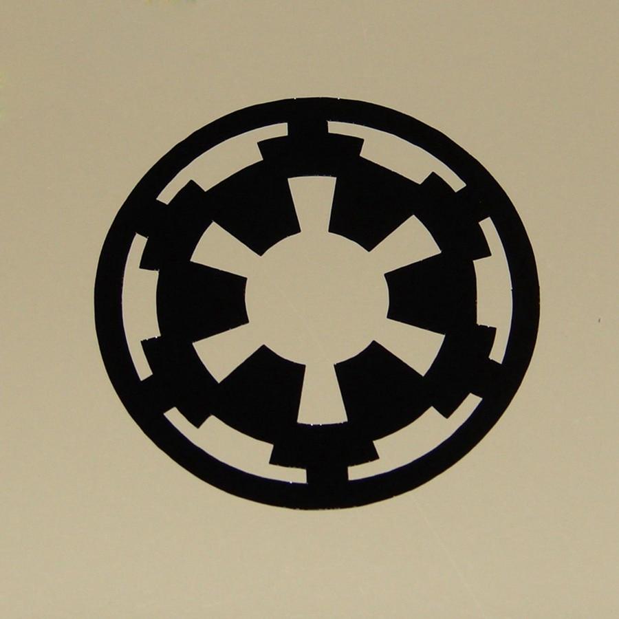 2 Pçs/set Variedade de Star Wars Imperial Rebel Alliance Logo Decalque de Vinil Adesivos de Parede Para O Portátil/Telefone/Carro decoração