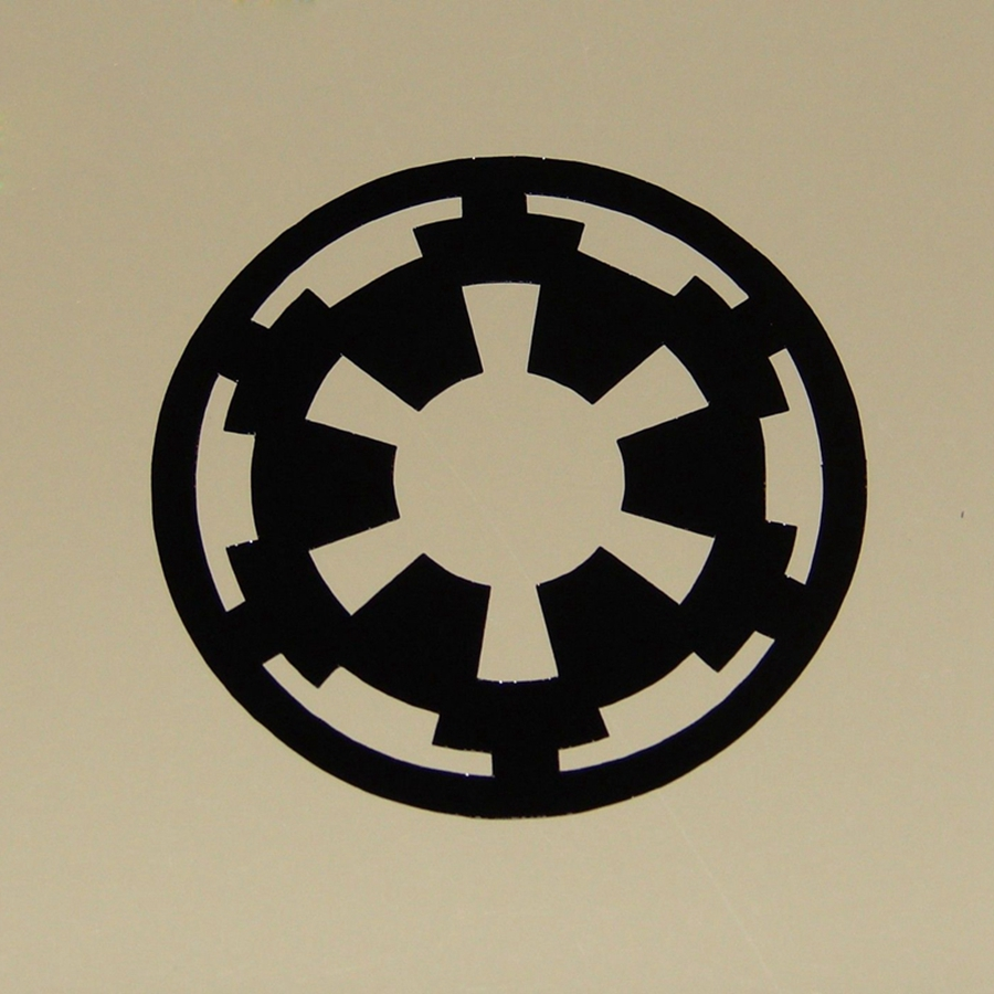 2pcsset Variety Of Star Wars Vinyl Wall Stickers Imperial Rebel