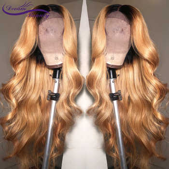 Dream Beauty Body Wave Ombre 27 Color long deep part 13x6 Front lace wig Remy Hair Brazilian Human Hair Wigs With Baby Hair - DISCOUNT ITEM  48% OFF All Category