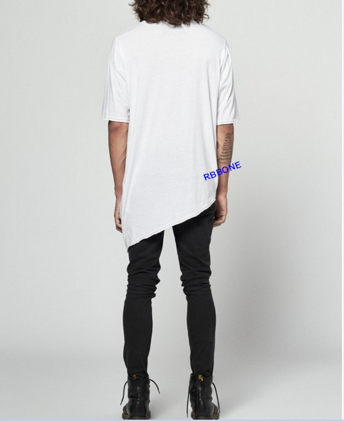 0bbd01bc7df6 Extended Essential Short Sleeve Asymmetric Cut Round Wide Neck Tee Extended  Essential Long Sleeve Drop Back Under T shirt tee-in T-Shirts from Men's ...