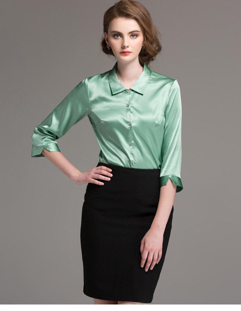 ff945c9448 Satin Blouse Pencil Skirt