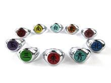 лучшая цена Naruto Cosplay Akatsuki Ninja Nagato Uchiha Itachi Deidara Sasori Kakuzu Orochimaru Zetsu Hidan toy figure Ring 10 Pcs/Set