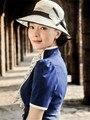 Ropa moda para mujeres partido razas iglesia sombreros del fascinator crema hechos a mano negro Formal sombrero sinamay sombreros con arco 3 color