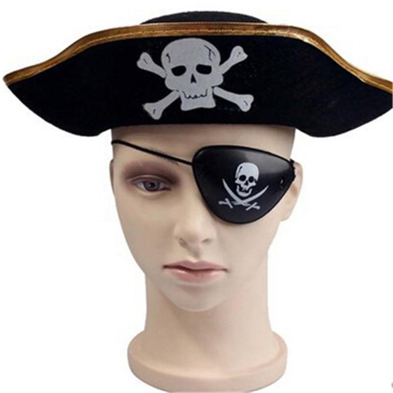 halloween pirate eye patch eye mask eyeshade cover plain lazy eye amblyopia skull eye patch party - Costume Props