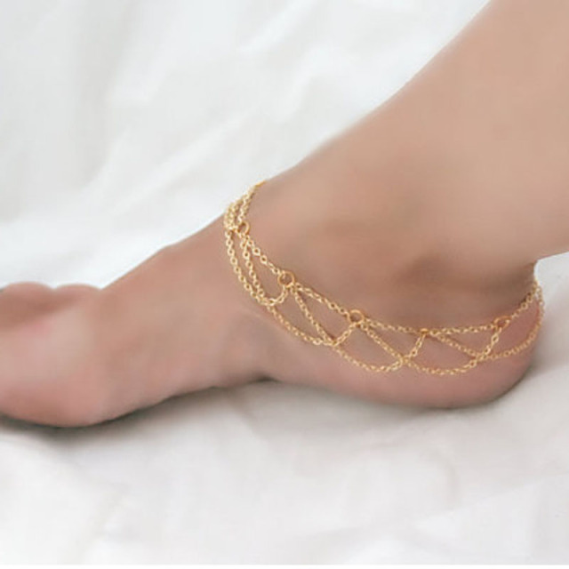 jewelry silver boho statement com ankle anklet barefoot chain dp amazon zealmer bracelet unique vintage design feet bracelets flower