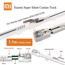 5.5m Xiaomi Super Silent Electric Curtain Track for Mijia Aqara, Xiaomi Aqara B1 Curtain motor,DOOYA engine, Customized Automati