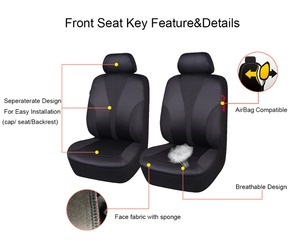 Image 4 - Auto pass Polyester Car Seat Covers Universal 4 Color Seat Covers Cushion Interior Accessories For Volkswagen mazda cx 5 lada