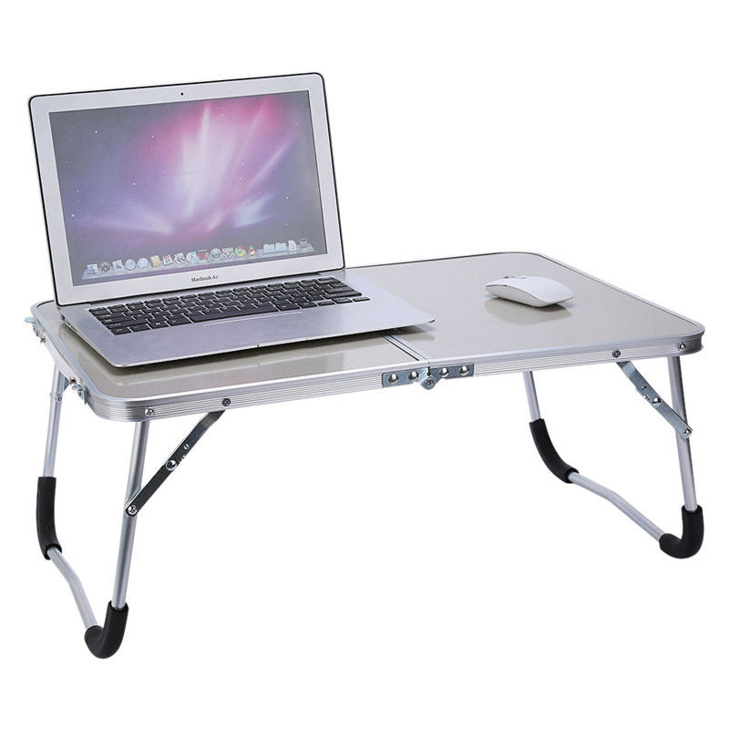 Fashion Portable Folding Aluminum Alloy Laptop Table Sofa Bed Office Laptop Stand Desk Computer Notebook Bed Table