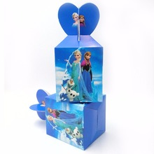 6pcs/set lisa Anna Princess Party Supplies Paper Candy Boxes Kids Birthday Baby Shower Decorations Elsa Boxes Party Supplies 1