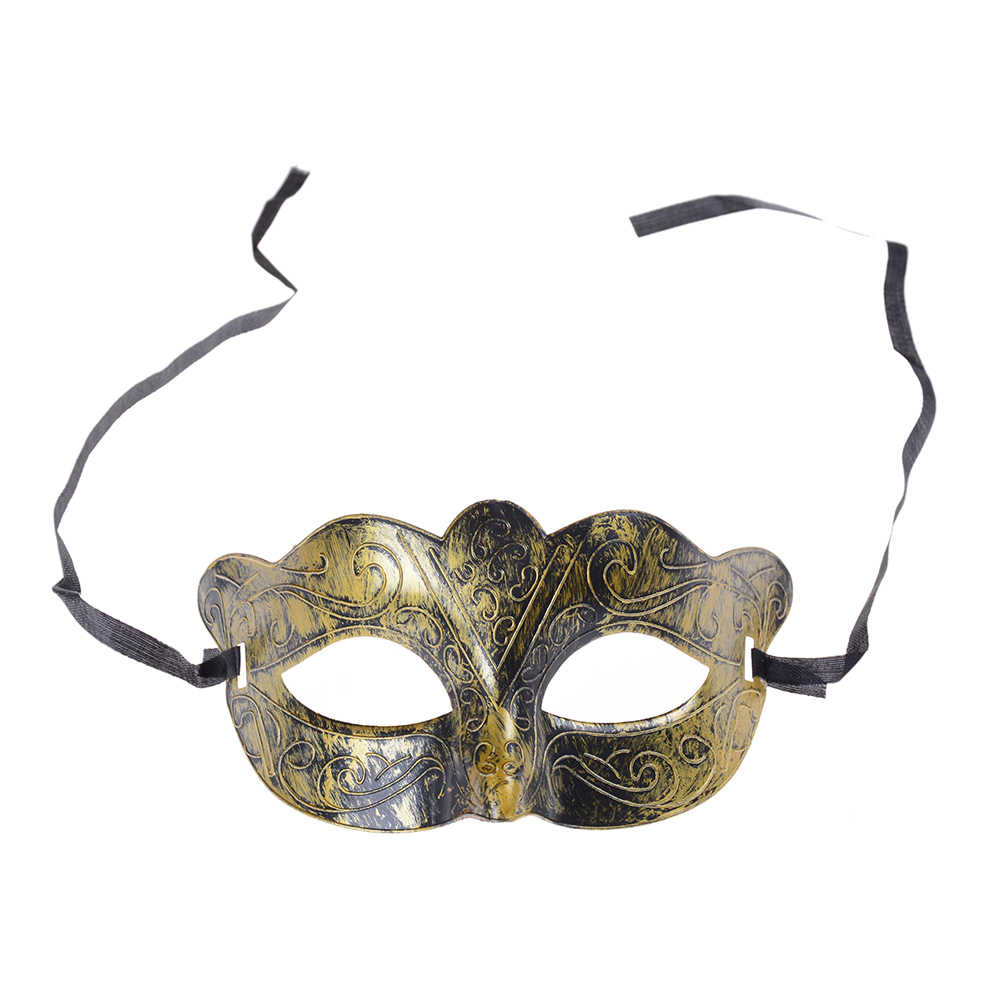 1PC Antique Venetian Mardi Gras Masquerade mask Retro Silver Gold Party Ball Mask Men halloween Burnished  9*16.5cm