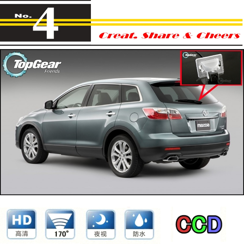 Car Camera For Mazda CX-9 CX9 CX 9 2007~2014 High Quality Rear View Back Up Camera For Top Gear Friends to Use   CCD with RCA air dragon portable air compressor