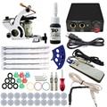 Equipo profesional 1 Unidades Completo único rotatorio Máquina de Tatuaje Pistola 1 Tintas de Color fuente de Alimentación Cable Kit Del Cuerpo de La Belleza DIY herramientas